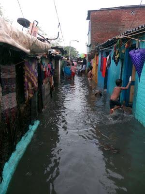 Le slum de Gandhi Nagar