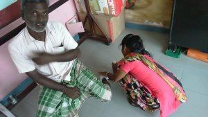 Infirmière et soin du pied